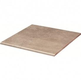 Клинкерная ступень Paradyz Viano beige stopnica prosta struktura 30x30 см