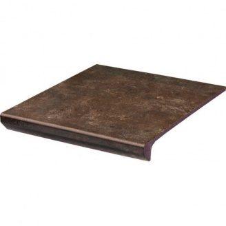 Клінкерний східець з капі носами Paradyz Ilario brown prosta struktura 30x33 см