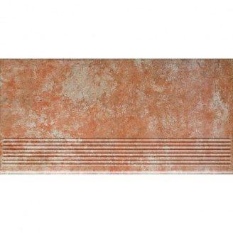 Клінкерний східець Paradyz Ilario ochra prosta struktura 30x60 см