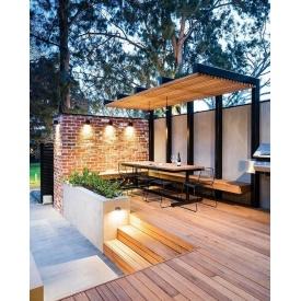 Будівництво дерев'яної тераси з перголой Гюмрі