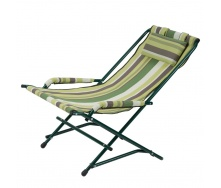Кресло Качалка 20 мм текстилен зеленая полоса Витан