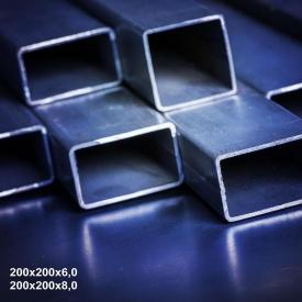 Труба профільна сталь 1-3пс 200х200х6 мм 12 м