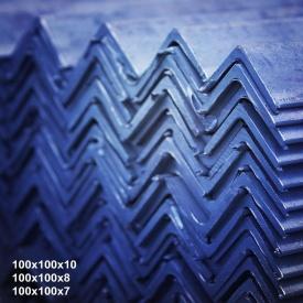 Уголок горячекатаный сталь 3пс 100х100х6,5 мм 12 м