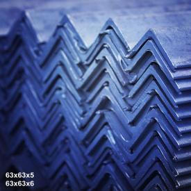 Кутик гарячекатаний сталь 3пс 63х63х5 мм 6 м