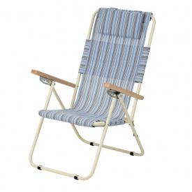 Кресло-шезлонг Ясень 20 мм текстилен голубая полоска Витан