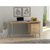 Офісний стіл Loft design L-45 1300х750х650 мм Дуб Борас