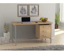 Офисный стол Loft design L-45 1300х750х650 мм Дуб Борас
