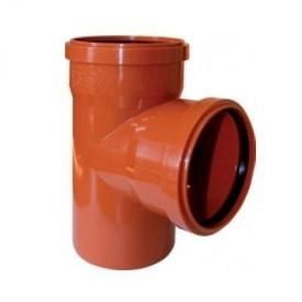Тройник 110 мм канализационный наружный 90 градусов