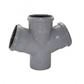 Крестовина канализационная 110х110х110 мм 45 градусов