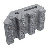 Блок декоративний Сілта-Брік Сірий 14 канелюрний кутовий 390х190х140 мм