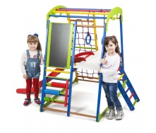 Детский спортивный комплекс для дома SportWood Plus-3 SportBaby