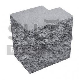 Полублок декоративный Силта-Брик Серый 14 угловой полнотелый 190х190х140 мм