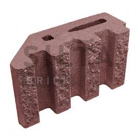 Блок декоративний Сілта-Брік Кольоровий 24-2 канелюрний кутовий 390х190х140 мм