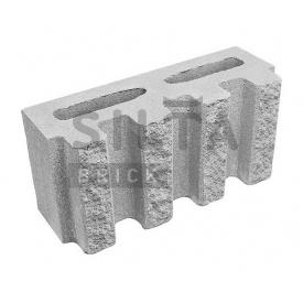 Блок декоративний Сілта-Брік Еліт 33 канелюрний 390х190х140 мм