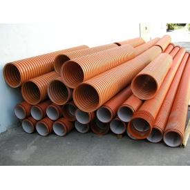 Пстиковая усиленная труба гофра Качмарек 250х6000 мм
