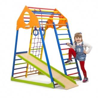 Детский спортивный комплекс Sportbaby KindWood Color 1500х850х1320 мм для дома