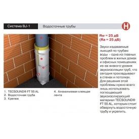 Звукоизоляция канализационной трубы мембраной Тексаунд FT 75