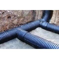 Пластикова каналізаційна труба двошарова посиленого типу SN16 400х6000 мм
