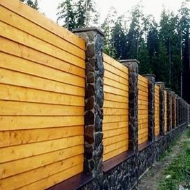 Забор деревянный сплошной. Под заказ.