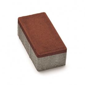 Тротуарная плитка РОАД КОНСТРАКШН Кирпичик 200х100х60 мм красная