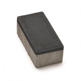 Тротуарная плитка РОАД КОНСТРАКШН Кирпичик 200х100х40 мм черная