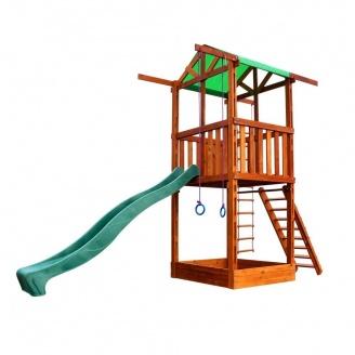 Детская горка Sportbaby Babyland-1 3200х1600х4100 мм деревянная