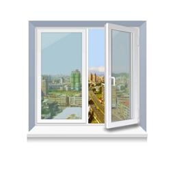 Металопластикове вікно KBE стандартне 1300x1400 мм