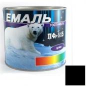Эмаль Gaia ПФ-115 черная 2,5 кг