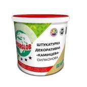 Штукатурка декоративная Камешковая Anserglob силиконовая зерно 2 мм белая 25 кг