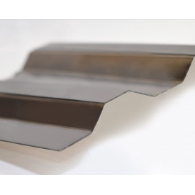 Профилированный монолитный поликарбонат Borrex 0,8 мм 105х300 см бронза