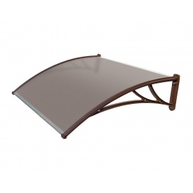 Козырек TanDem 1500х930х280 мм коричневый с сотовым поликарбонатом 4 мм бронза