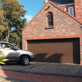 Роллетные ворота ALUTECH Prestige 3200х2300 мм коричневый