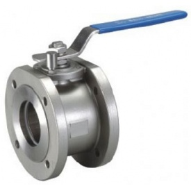 Кран шаровый фланцевый моноблочный Lateya сталь AISI 304 20 мм