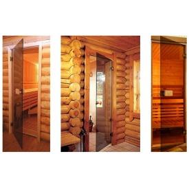 Цельностеклянные двери в сауну 8 мм