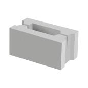 Заборный блок 1/4 BERNSTONE бетон 188х88х120 мм серый цемент