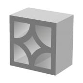 Декоративный блок BERNSTONE Ромб бетон 300х300х100 мм серый цемент