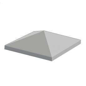Крышка столба BERNSTONE бетон 400х400х100 мм серый цемент