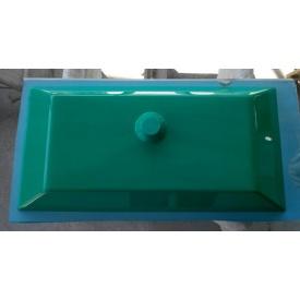 Стільниця у ванну кімнату суцільнолита з чашею Каліпсо 655х330х100 мм