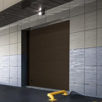 Промислові ворота ALUTECH ProPlus мікрохвиля 3000х3250 мм RAL8014 коричневий
