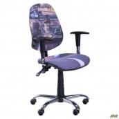 Кресло AMF Бридж каркас хром Дизайн №1 Гонки 650x650x1090 мм