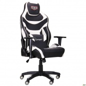 Геймерське крісло AMF VR Racer Expert Virtuoso 1250-1330х700х680 мм кожзам чорно-білий