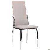 М'який стілець АМФ Картер 990х440х570 мм каркас хром кожзам світлий