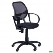 Офісне крісло АМФ Біт-8 100-870х580х550 ммСетка чорний