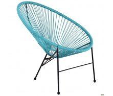 Плетений стілець AMF Acapulco 860х710х790 мм техноротангу блакитний