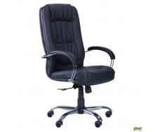 Офісне крісло АМФ Марсель 1160-1090х610х680 мм чорне хром ANYFIX