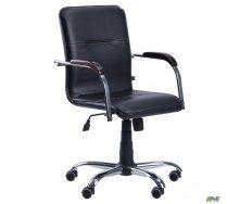 Офісне крісло AMF Самба-RC 880-1110х640х680 мм Хром горіх Скад чорний
