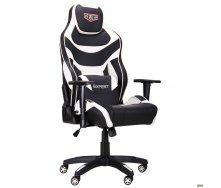 Геймерское кресло AMF VR Racer Expert Virtuoso 1250-1330х700х680 мм кожзам черно-белый