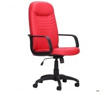 Офісне крісло АМФ Стар Пластик 650x740x1300 мм червоний кожзам Неаполь N-36