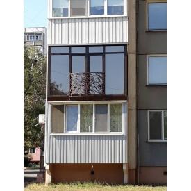 Остекление французского балкона П-образного
