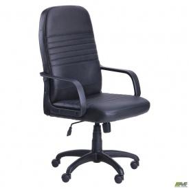 Офисное кресло АМФ Чинция 1260х620х620 мм кожзам черное